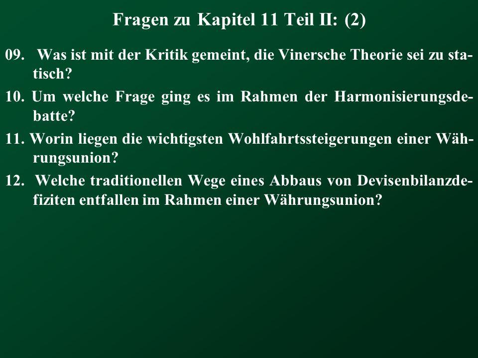 Fragen zu Kapitel 11 Teil II: (2)