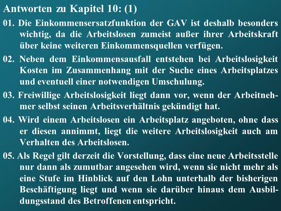 Antworten zu Kapitel 10: (1)