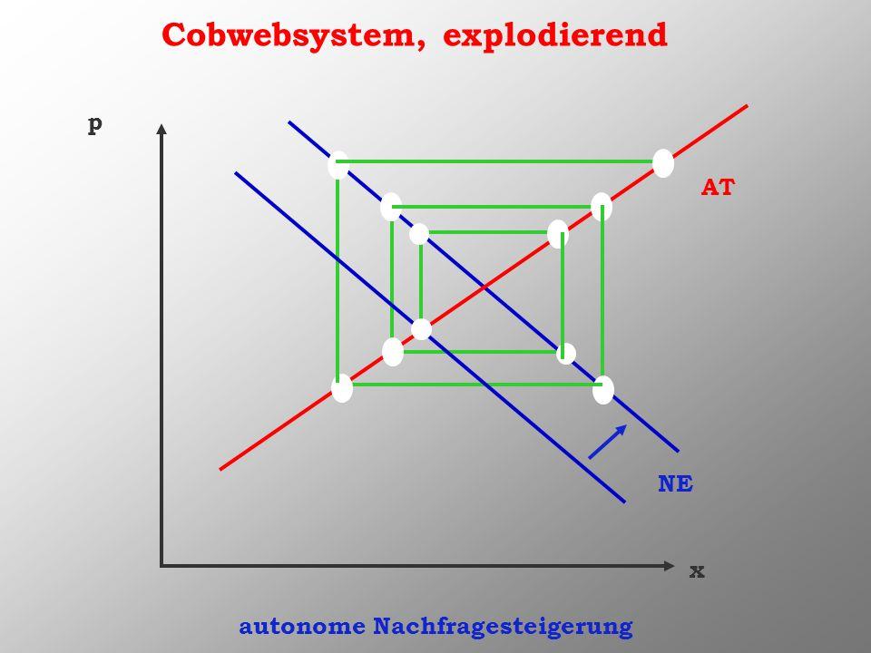Cobwebsystem, explodierend autonome Nachfragesteigerung