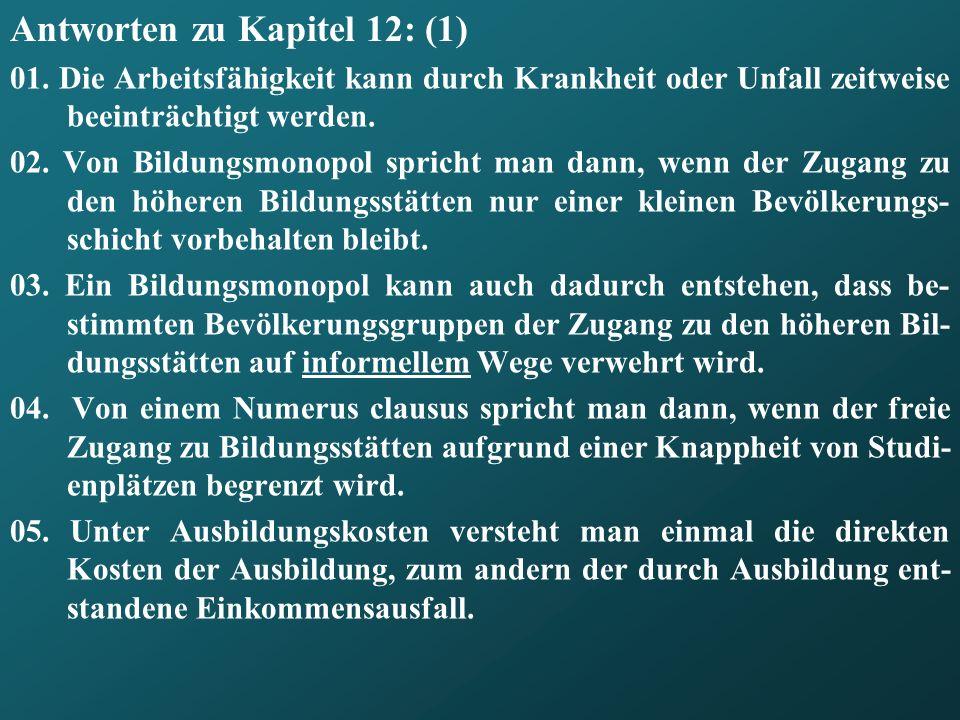 Antworten zu Kapitel 12: (1)