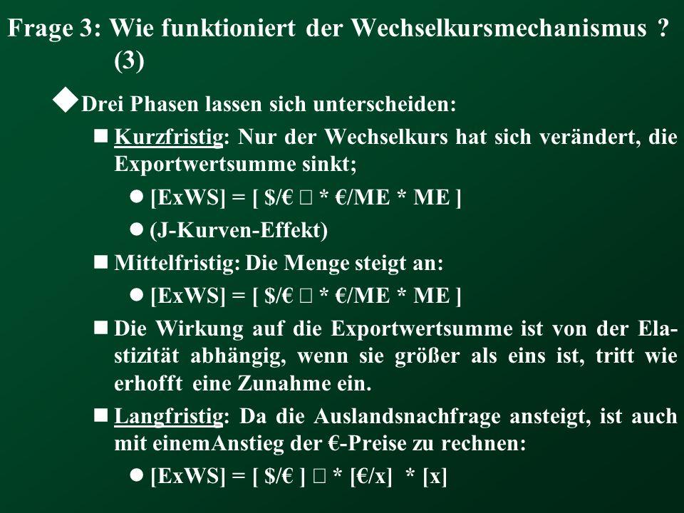Frage 3: Wie funktioniert der Wechselkursmechanismus (3)