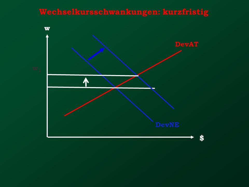 Wechselkursschwankungen: kurzfristig