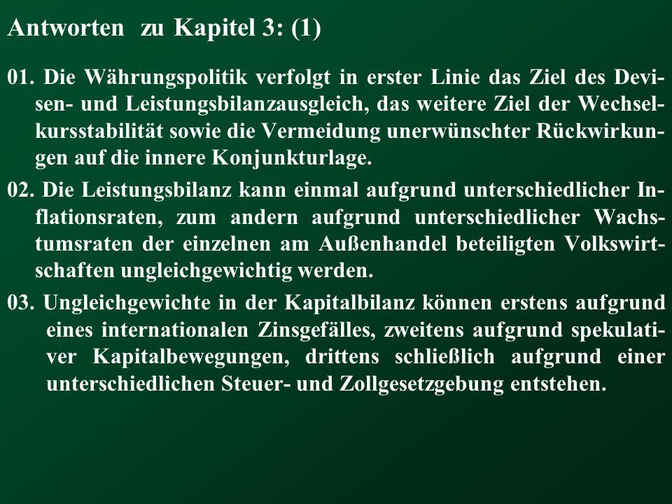 Antworten zu Kapitel 3: (1)