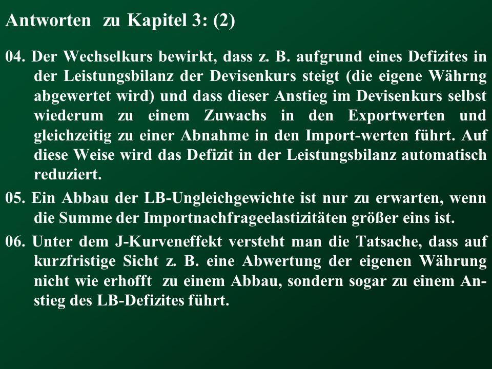 Antworten zu Kapitel 3: (2)
