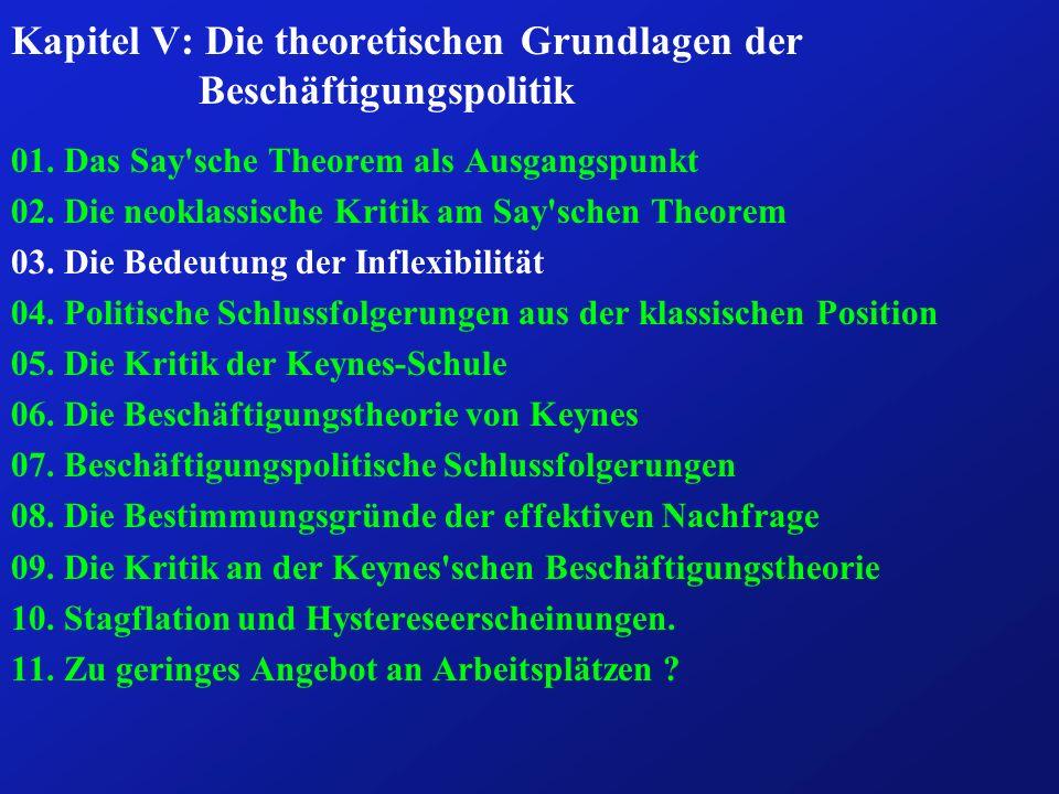 Kapitel V: Die theoretischen Grundlagen der Beschäftigungspolitik