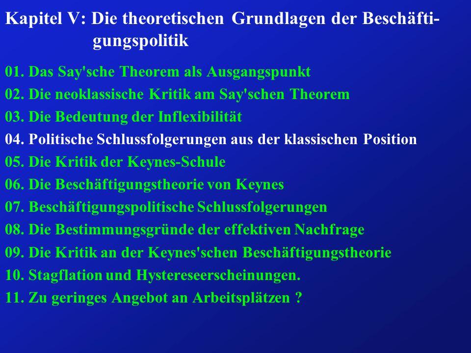 Kapitel V: Die theoretischen Grundlagen der Beschäfti-gungspolitik