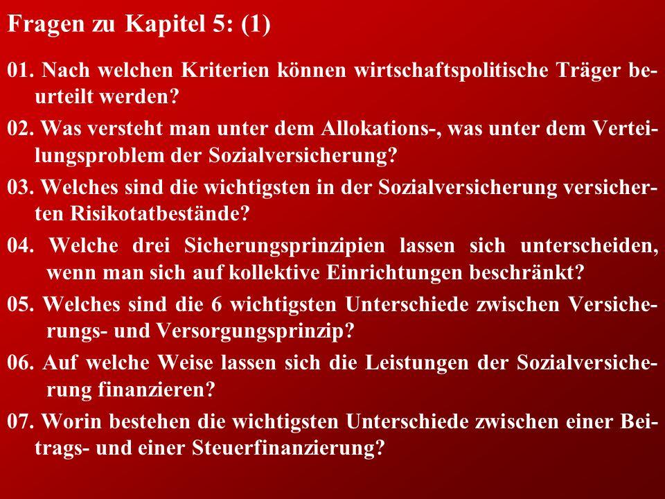 Fragen zu Kapitel 5: (1) 01. Nach welchen Kriterien können wirtschaftspolitische Träger be-urteilt werden