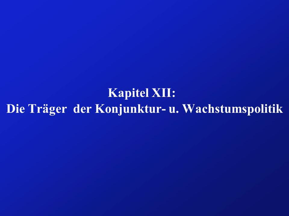 Kapitel XII: Die Träger der Konjunktur- u. Wachstumspolitik
