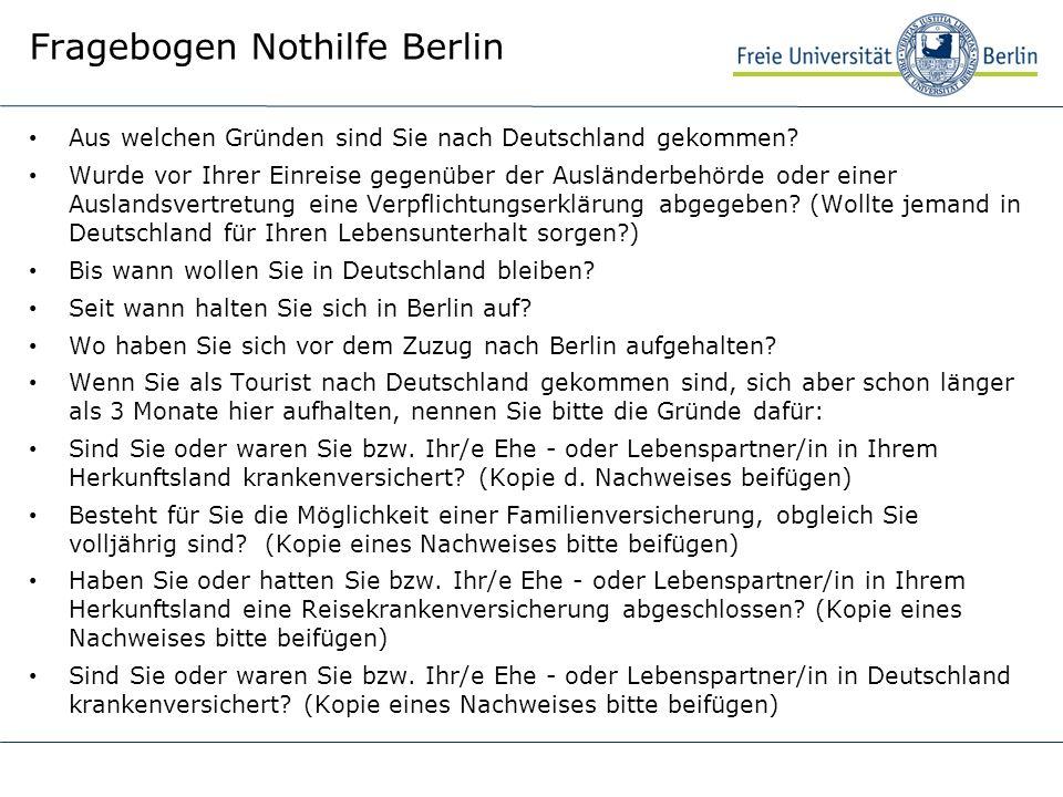 Fragebogen Nothilfe Berlin