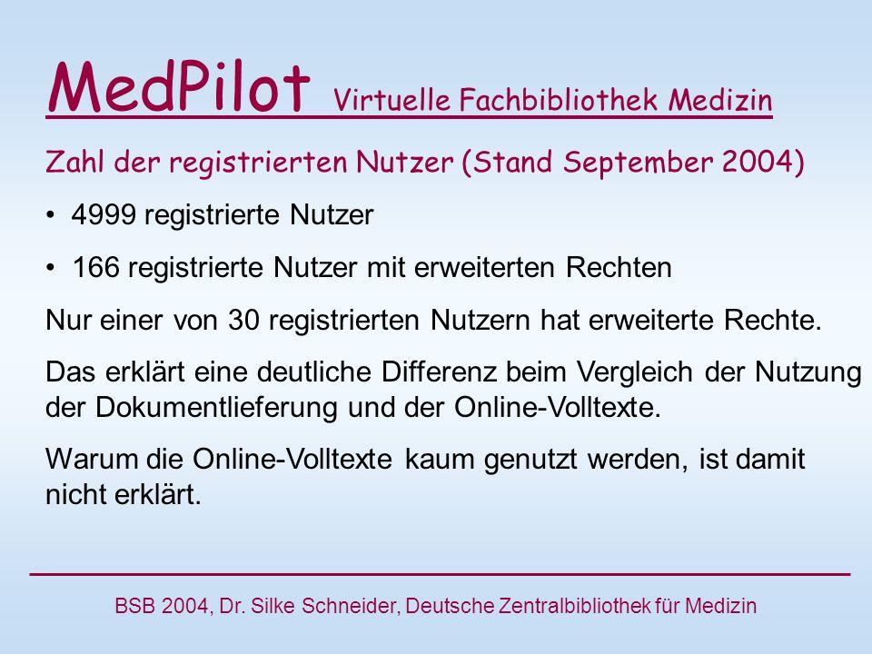 BSB 2004, Dr. Silke Schneider, Deutsche Zentralbibliothek für Medizin