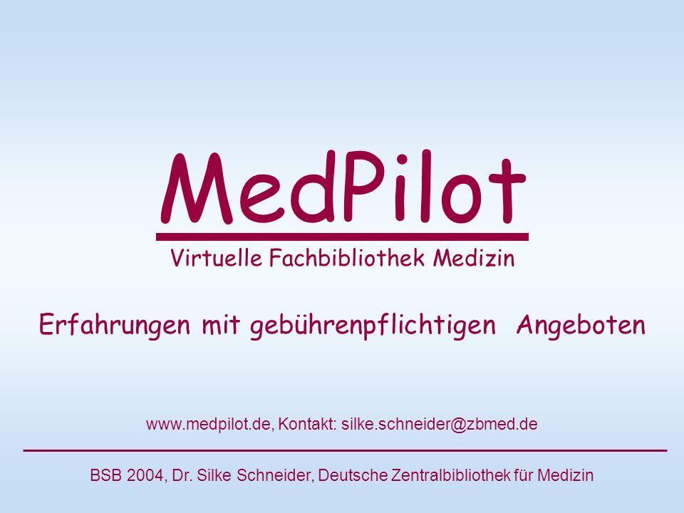 MedPilot Virtuelle Fachbibliothek Medizin