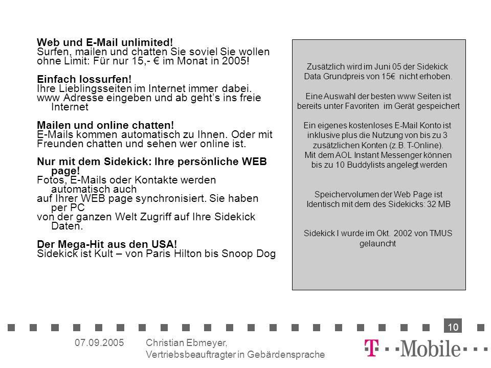 Web und E-Mail unlimited!