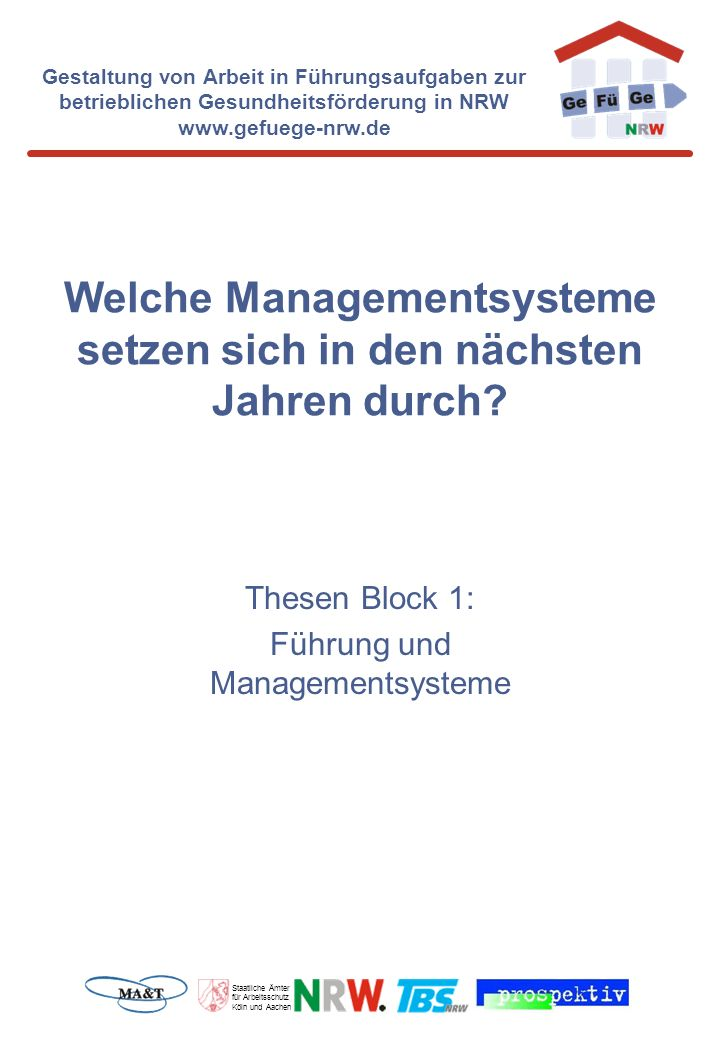 Welche Managementsysteme setzen sich in den nächsten Jahren durch