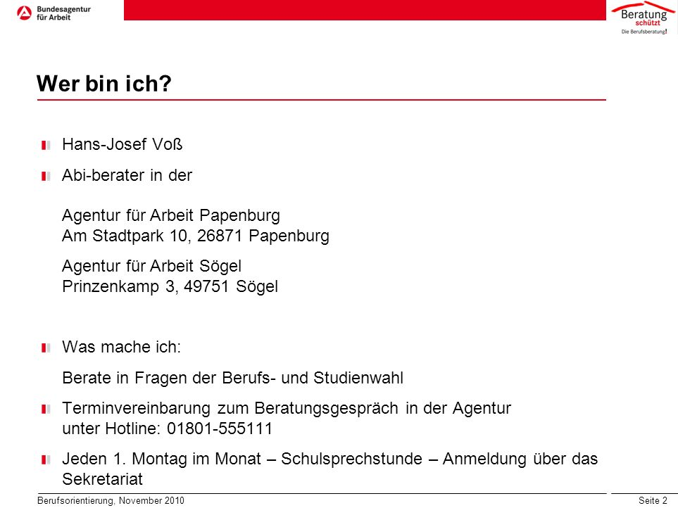 Wer bin ich Hans-Josef Voß