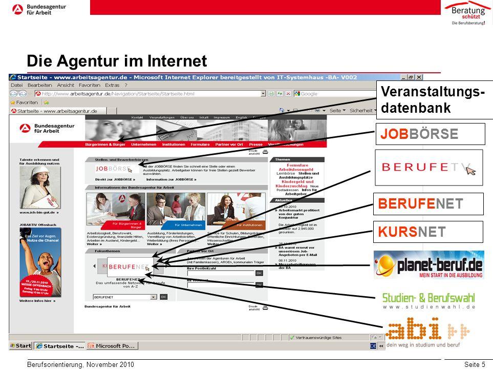 Die Agentur im Internet