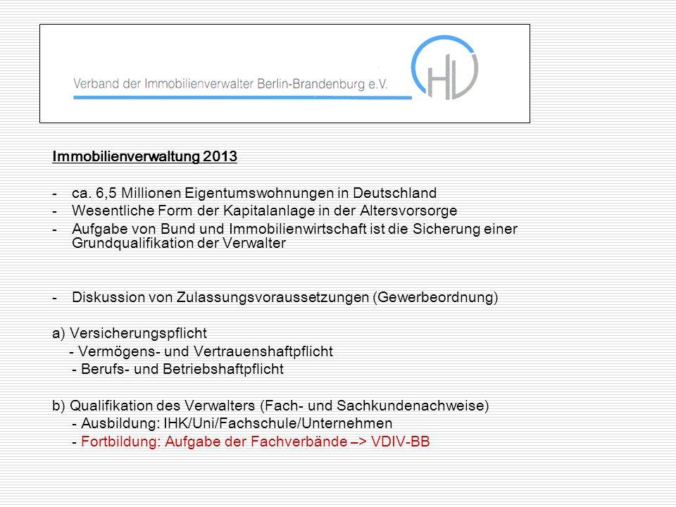 Immobilienverwaltung 2013