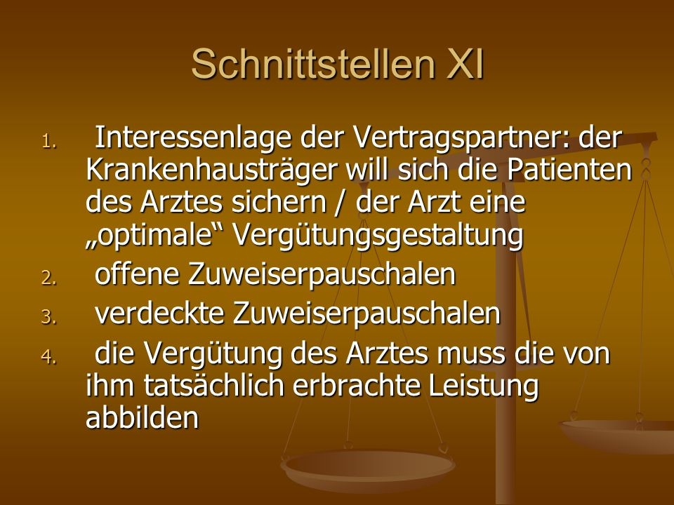 Schnittstellen XI