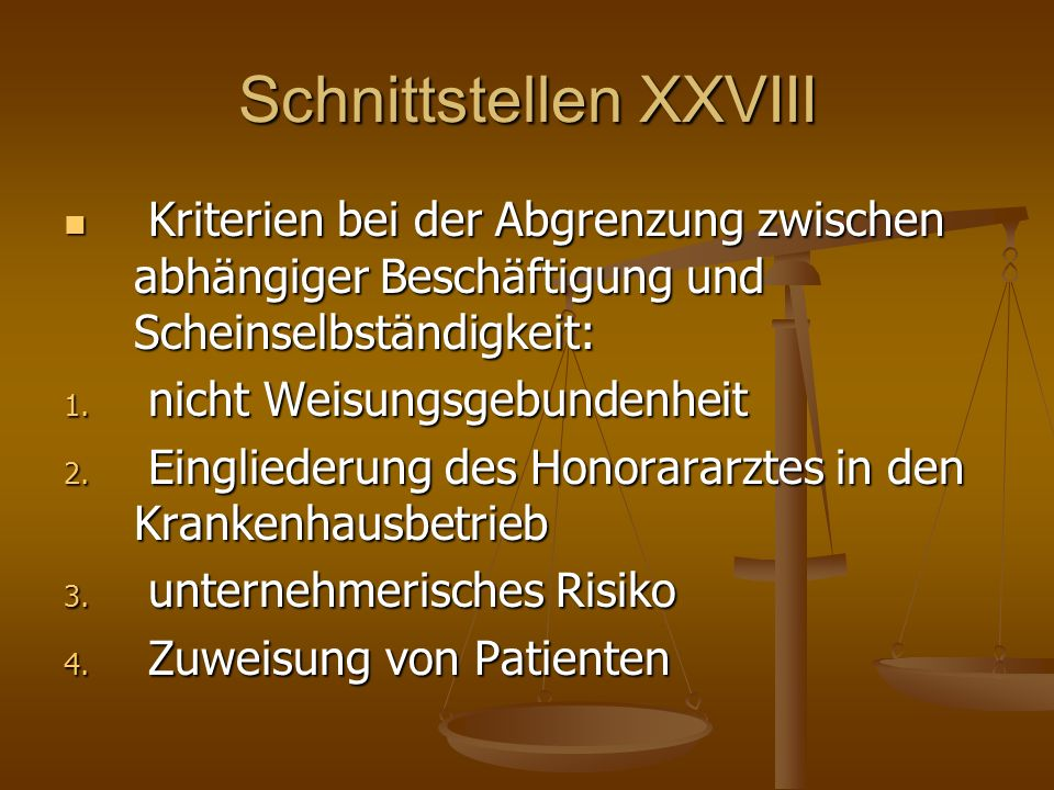 Schnittstellen XXVIII