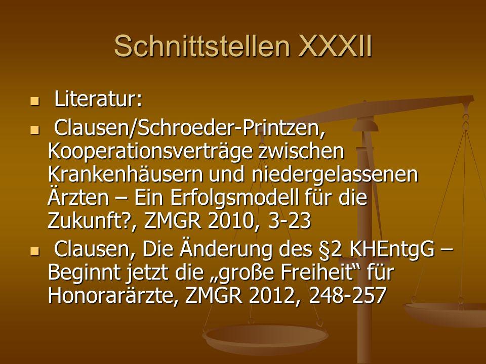 Schnittstellen XXXII Literatur: