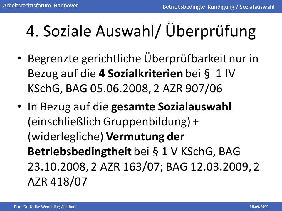 4. Soziale Auswahl/ Überprüfung