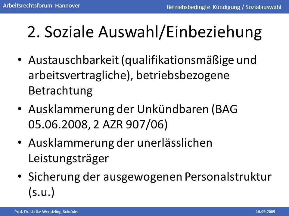 2. Soziale Auswahl/Einbeziehung