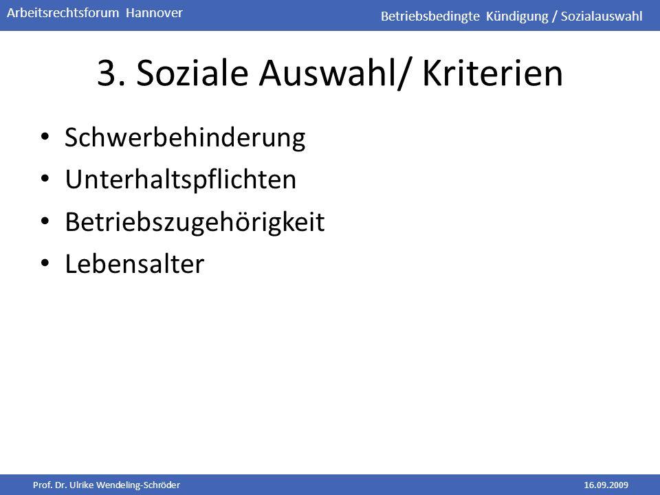 3. Soziale Auswahl/ Kriterien