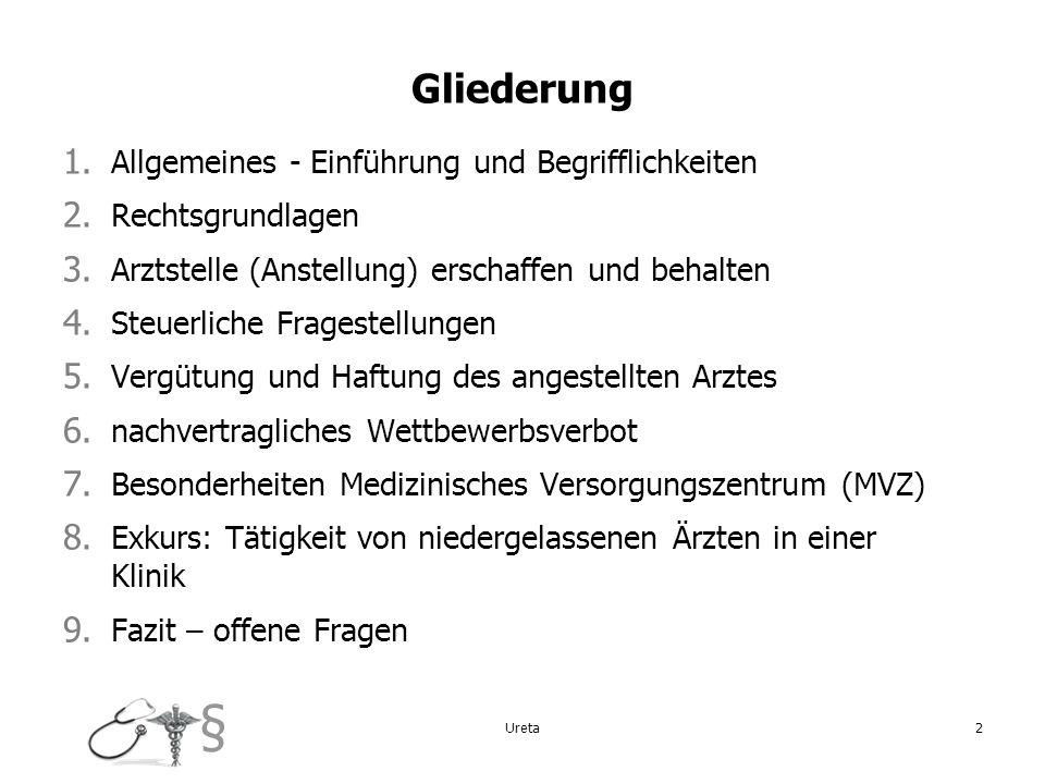 Gliederung Allgemeines - Einführung und Begrifflichkeiten