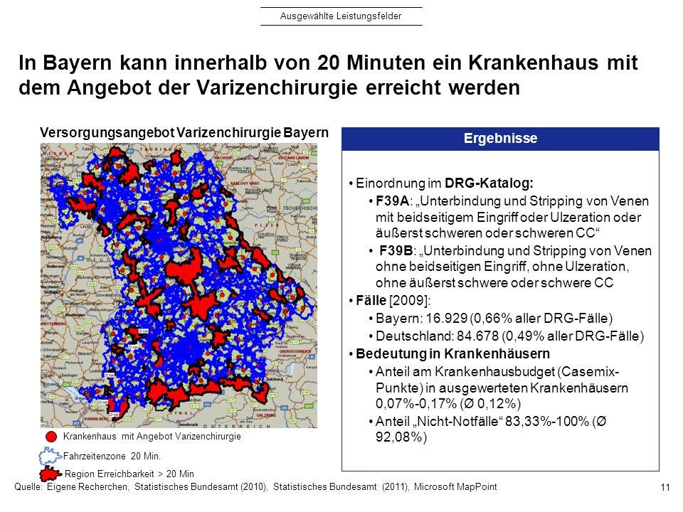 Versorgungsangebot Varizenchirurgie Bayern