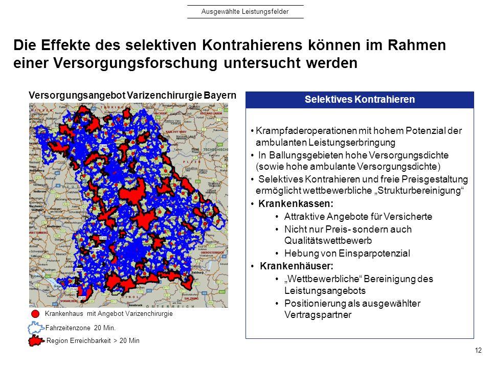 Versorgungsangebot Varizenchirurgie Bayern Selektives Kontrahieren