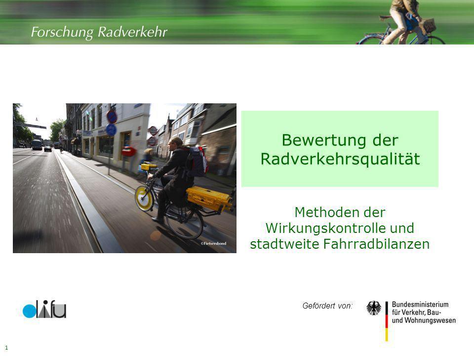Bewertung der Radverkehrsqualität