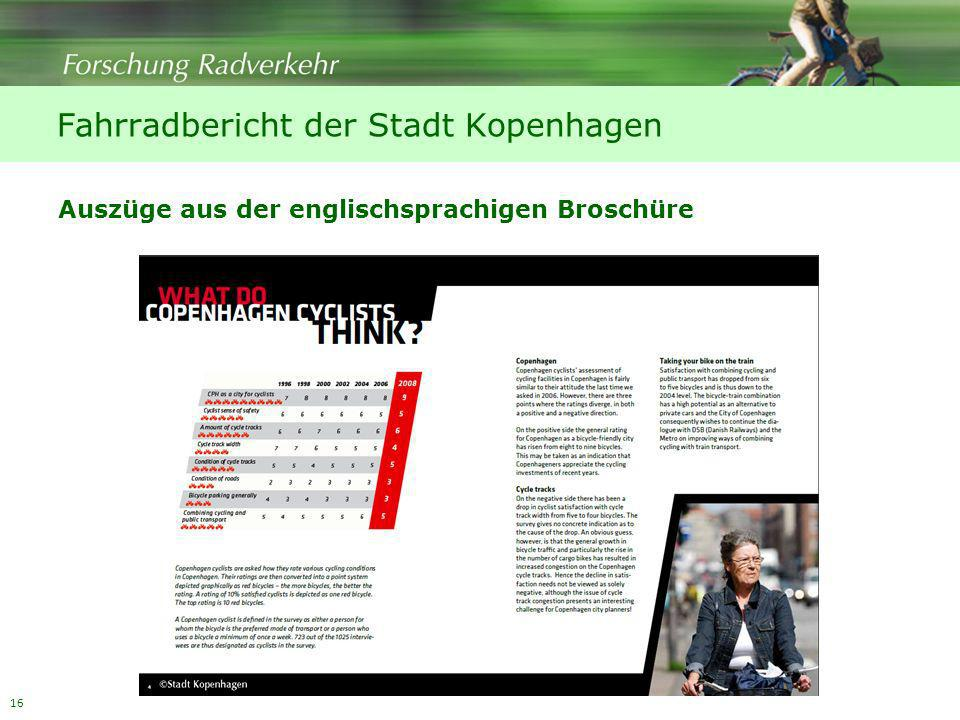 Fahrradbericht der Stadt Kopenhagen