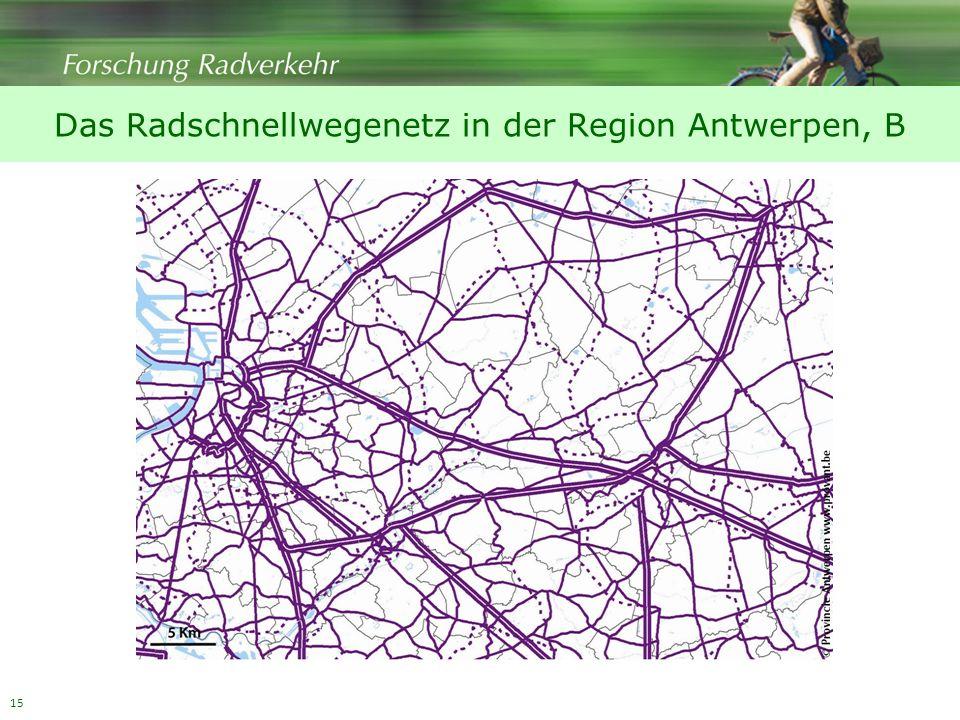 Das Radschnellwegenetz in der Region Antwerpen, B