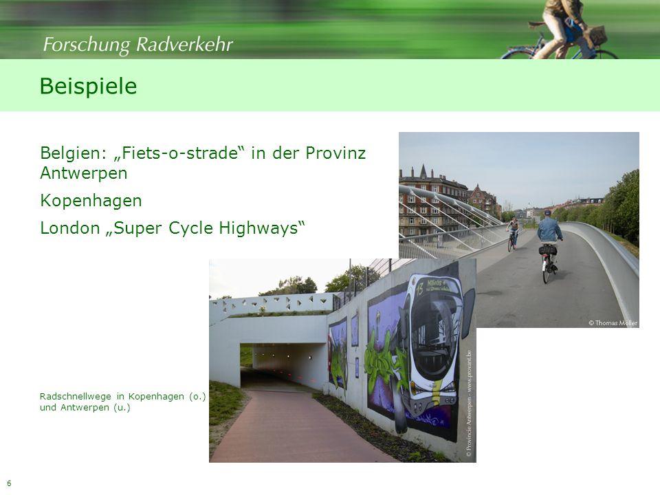 "Beispiele Belgien: ""Fiets-o-strade in der Provinz Antwerpen"