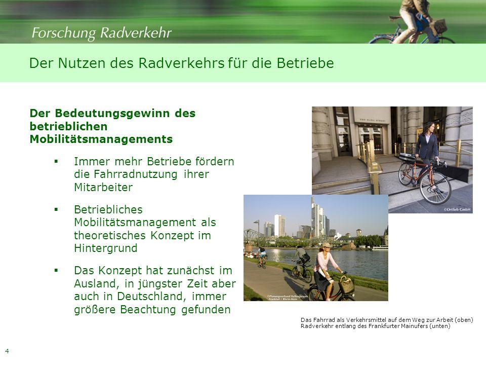 Der Nutzen des Radverkehrs für die Betriebe
