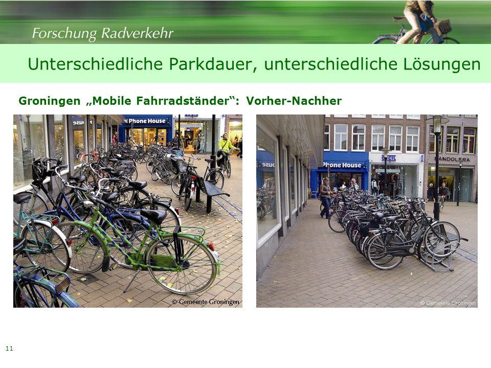 Unterschiedliche Parkdauer, unterschiedliche Lösungen