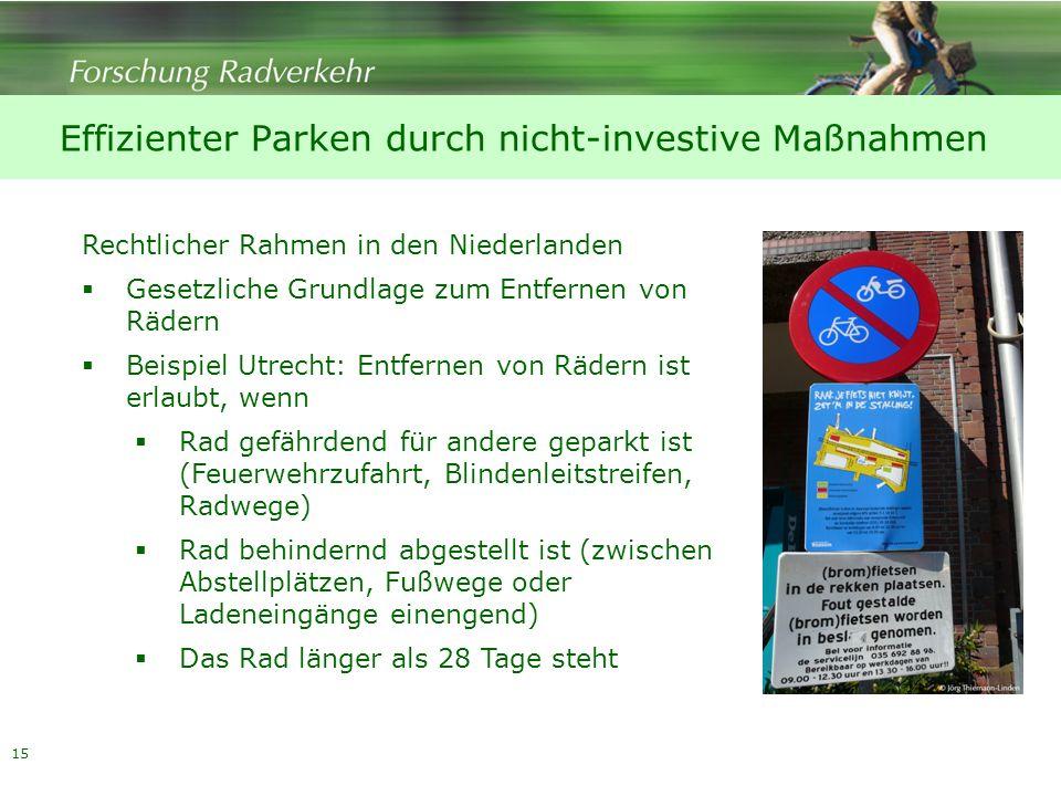 Effizienter Parken durch nicht-investive Maßnahmen