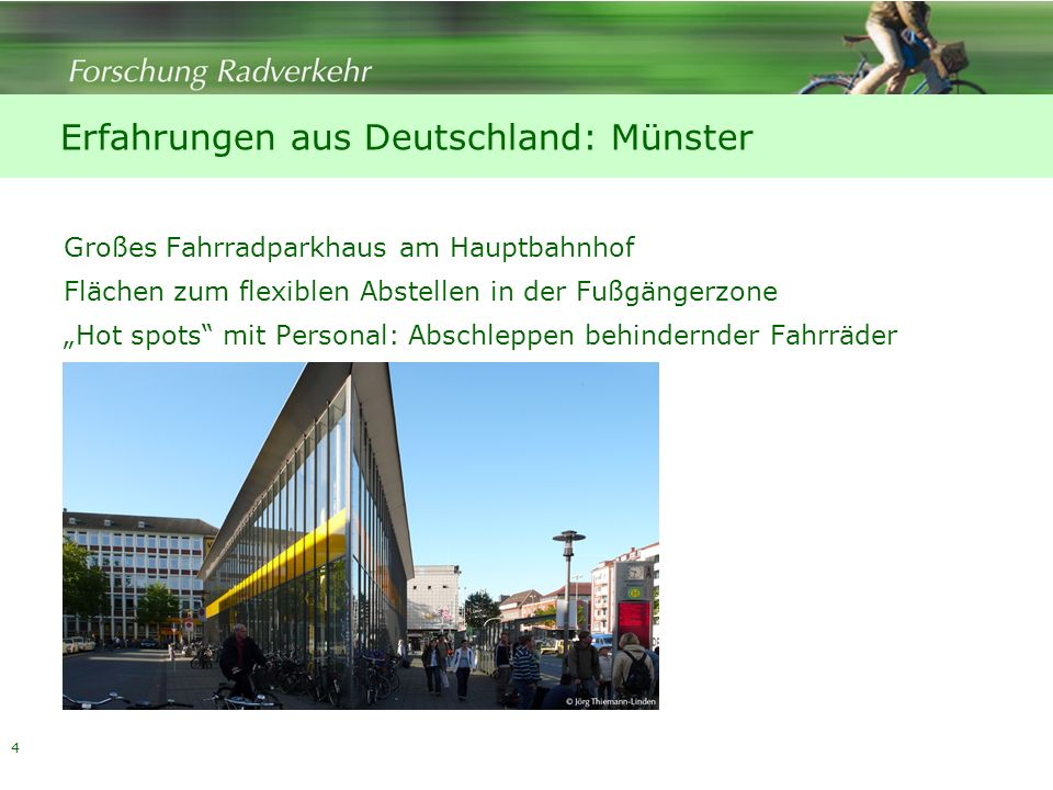 Erfahrungen aus Deutschland: Münster
