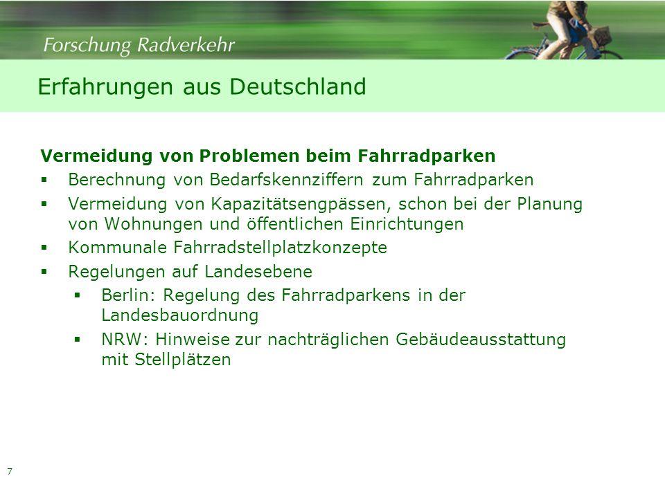 Erfahrungen aus Deutschland