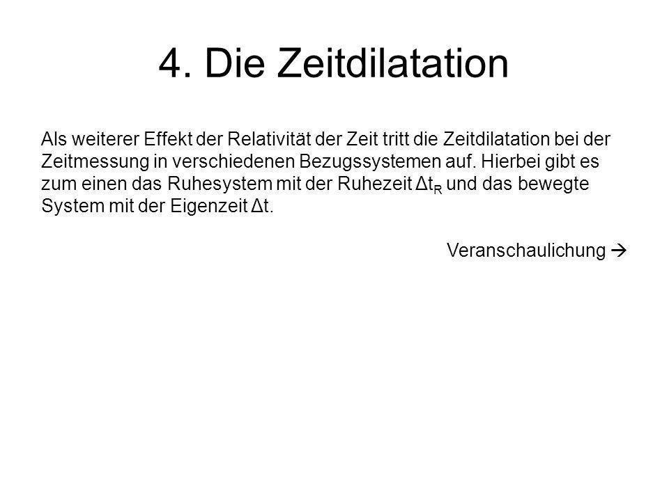 4. Die Zeitdilatation