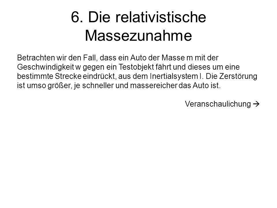 6. Die relativistische Massezunahme