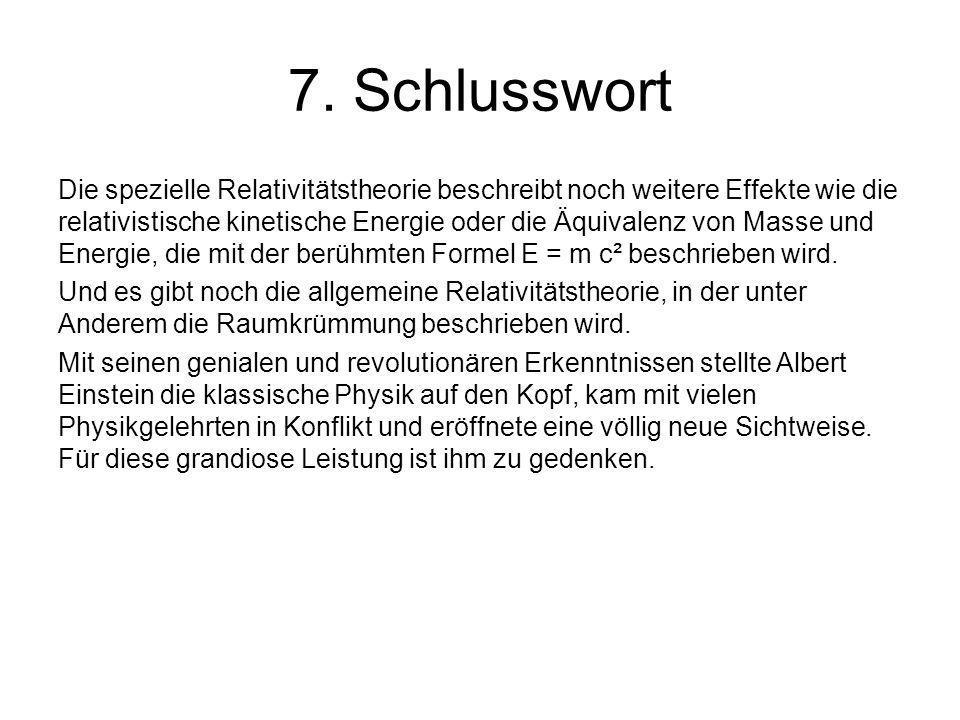 7. Schlusswort