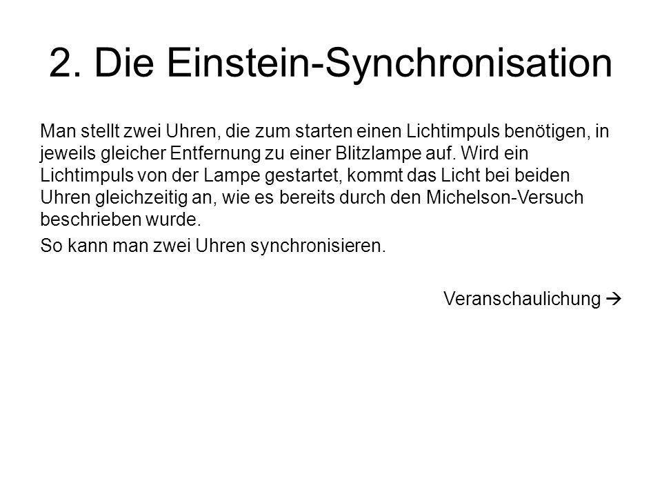 2. Die Einstein-Synchronisation