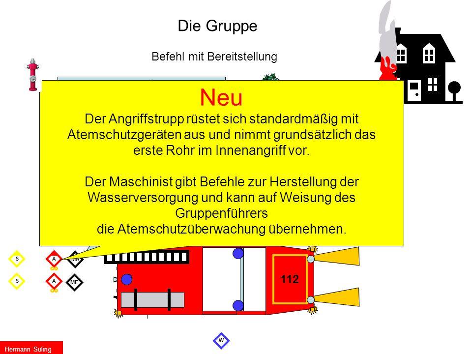 Die Gruppe Befehl mit Bereitstellung. Wasserentnahme… Überflur- Hydrant. Verteiler…………… am Busch.