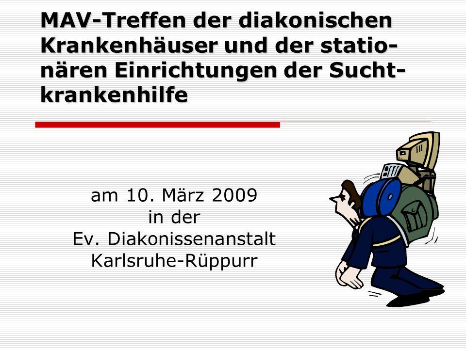 am 10. März 2009 in der Ev. Diakonissenanstalt Karlsruhe-Rüppurr
