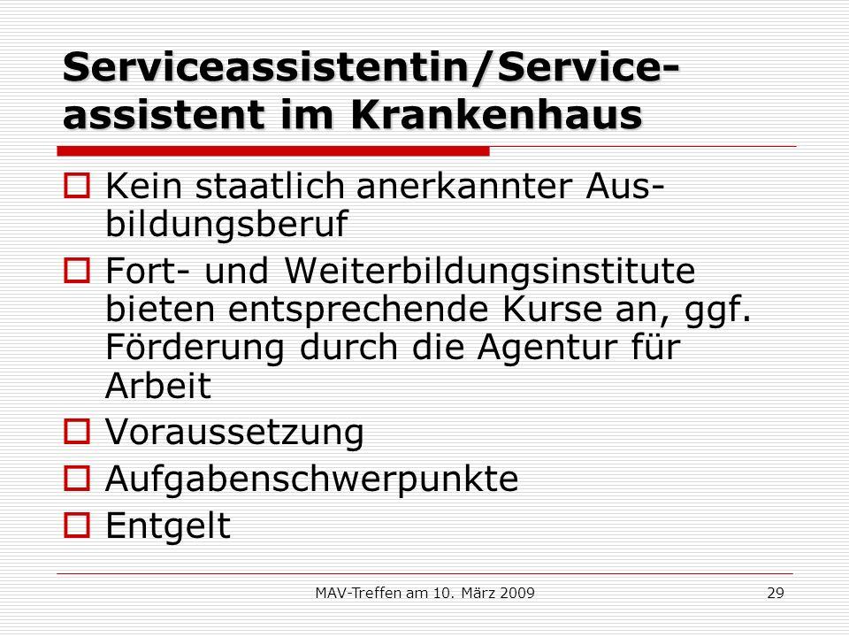 Serviceassistentin/Service-assistent im Krankenhaus