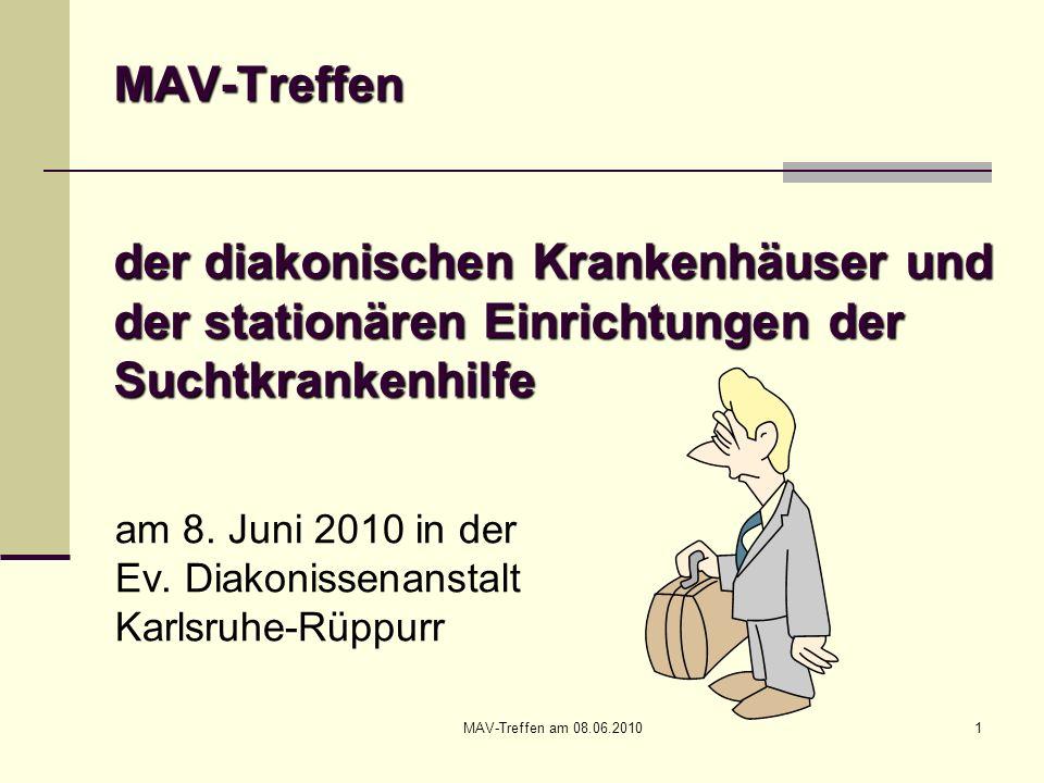 MAV-Treffen der diakonischen Krankenhäuser und der stationären Einrichtungen der Suchtkrankenhilfe