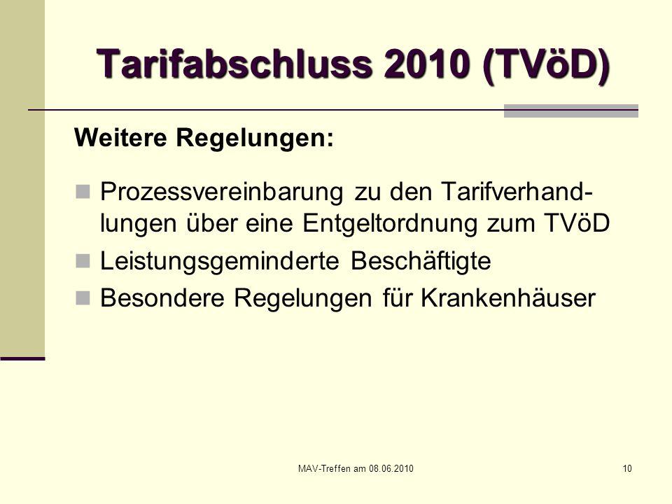 Tarifabschluss 2010 (TVöD)
