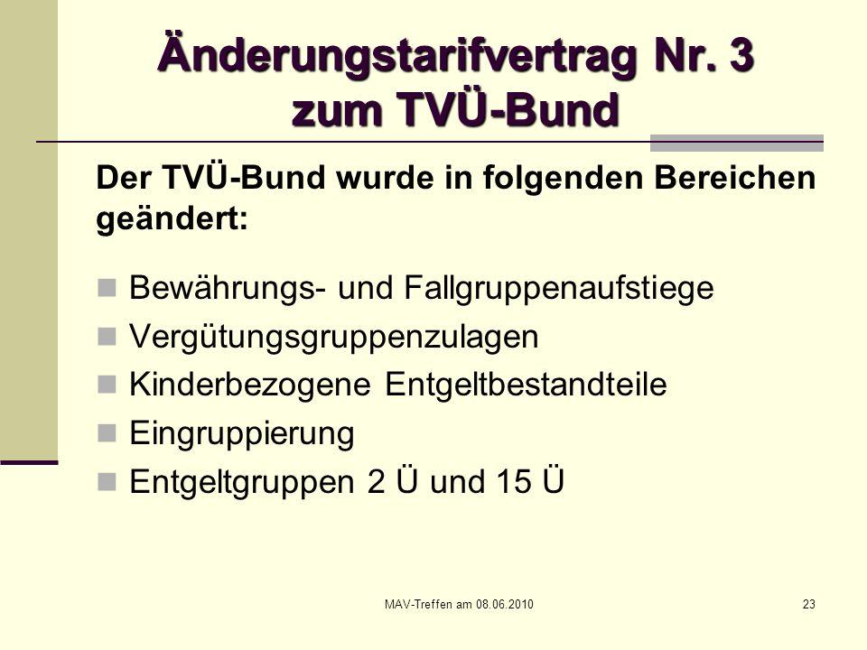 Änderungstarifvertrag Nr. 3 zum TVÜ-Bund