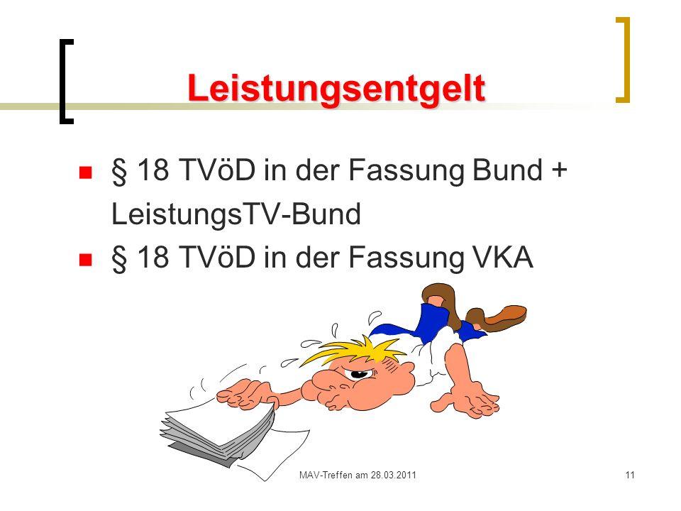 Leistungsentgelt § 18 TVöD in der Fassung Bund + LeistungsTV-Bund