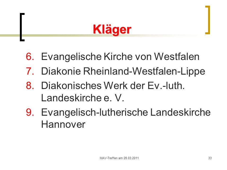 Kläger Evangelische Kirche von Westfalen